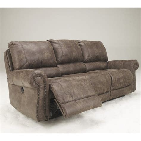 overly power reclining sofa ashley furniture oberson fabric reclining power sofa in