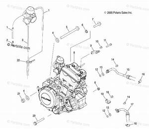 Polaris Atv 2006 Oem Parts Diagram For Engine Mounting
