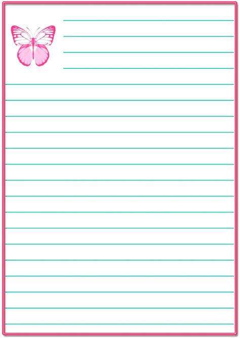 printable stationery  lines