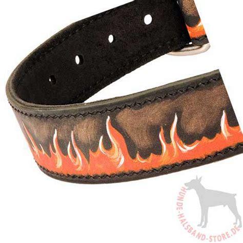 flamme design halsband lederhalsband exklusiv