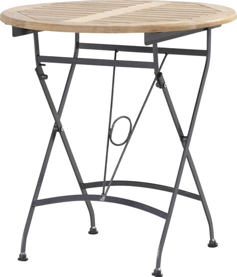 table de jardin ronde en fer forge table de jardin cairns ronde 70cm en fer forg 233 et pliable