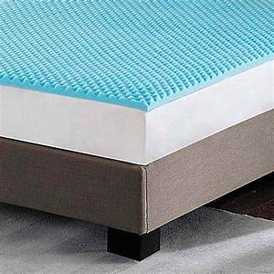 sleep philosophy flexapedic 3 inch gel foam topper in blue With bed bath and beyond firm mattress topper
