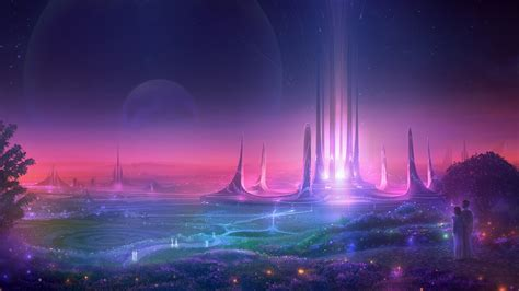 futuristic sci fi city wallpapers hd wallpapers id