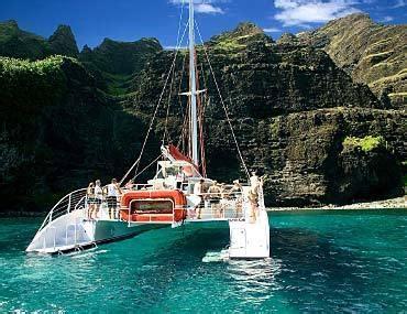 Napali Coast Boat Tour Sunset by 2 Hour Poipu Catamaran Sunset Sail Kauai
