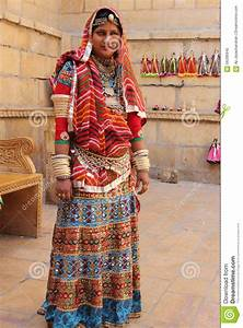 Rajasthani Woman Dressed Up In Traditional Costume ...