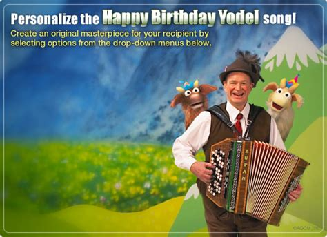 Birthday Yodel Video Ecard (personalized Lyrics) Happy