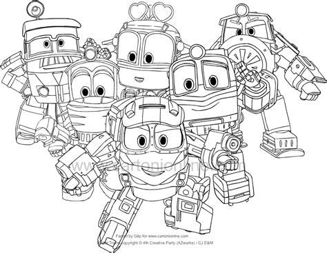 disegni di robot da colorare disegno dei robot trains da colorare