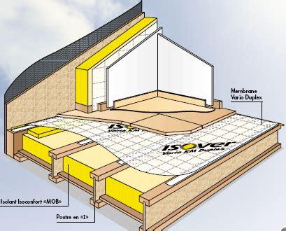 isolation sur plancher bois isolation des planchers d une maison ossature bois mob
