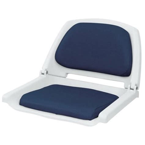 wise seating folding plastic seat with cushion west marine
