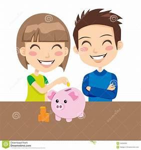 Kids Saving Money stock vector. Illustration of cartoon ...