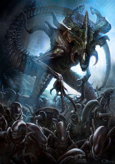Alien Vs Predator Wallpaper Alien King By Arvalis On Deviantart