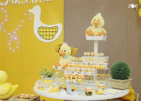 crepe paper yellow duck birthday 2 ducky