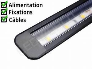Petite Led Encastrable : r glette led encastrable 21x9mm noire alimentation 12v ~ Edinachiropracticcenter.com Idées de Décoration