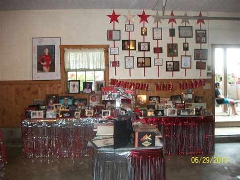 grad partydisplay tables  graduates pictures awards