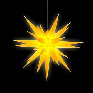 Herrnhuter Stern Beleuchtung : herrnhuter stern a7 gelb kunststoff 68 cm von herrnhuter ~ Michelbontemps.com Haus und Dekorationen