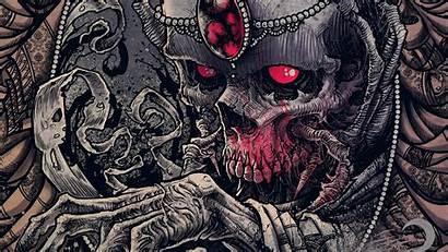 Skull Dark Wallpapers Evil Skeleton Skulls Horror