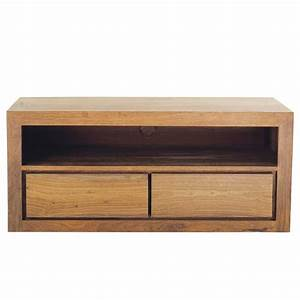 Meuble Tv Bois Massif Moderne : meuble tv en bois de sheesham massif l 116 cm stockholm maisons du monde ~ Teatrodelosmanantiales.com Idées de Décoration
