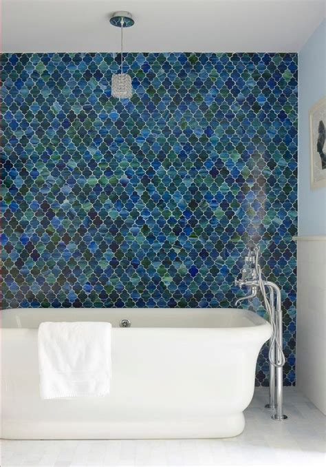 awesome teal bathroom transitional  blue glass white