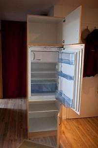 Kuhlschrank in einbauschrank braun in unterfohring for Einbauschrank für kühlschrank