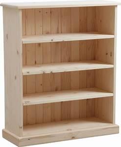 Bibliothèque Peu Profonde : meuble biblioth que bois brut ~ Premium-room.com Idées de Décoration