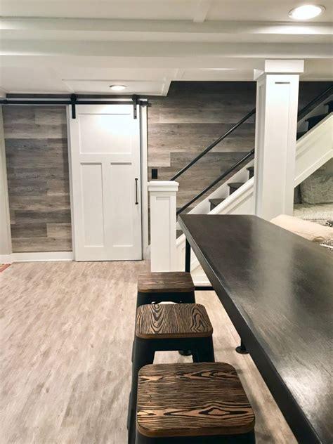 hgtv fixer upper basement remodel  shiplap wood