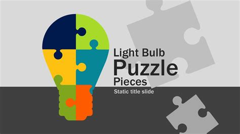 light bulb puzzle pieces  powerpoint template