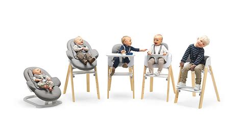 chaise haute stokke steps stokke steps three in one bouncer high chair our must