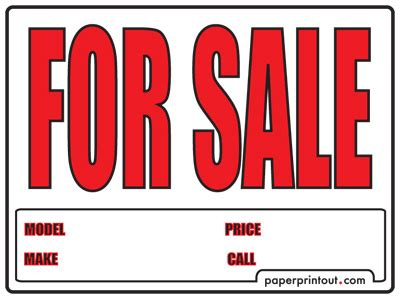 sale signs printable free car for sale sign to print online