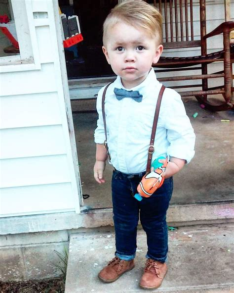 Toddler boy style suspenders skinny jeans bow tie ...