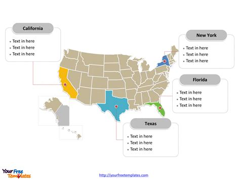 usa powerpoint map  powerpoint templates