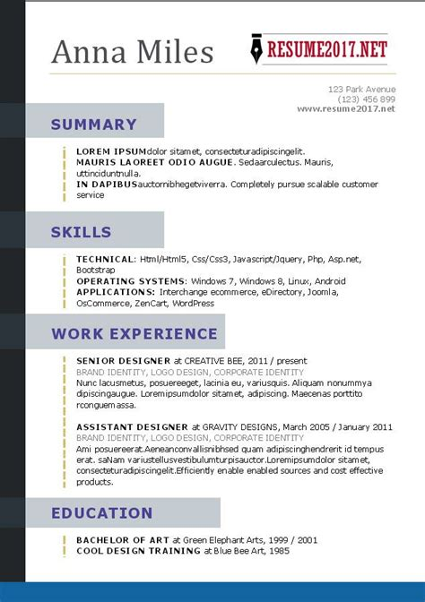 What Does Resume by What Your Resume Should Look Like In 2017 Resume Styles