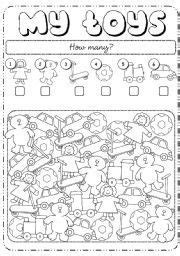 english worksheet   toys ensino infantil