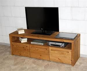 Massivholz TV Lowboard TV Mbel Fernsehschrank Rustikal