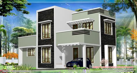 1278 sq kerala flat roof home design house design plans