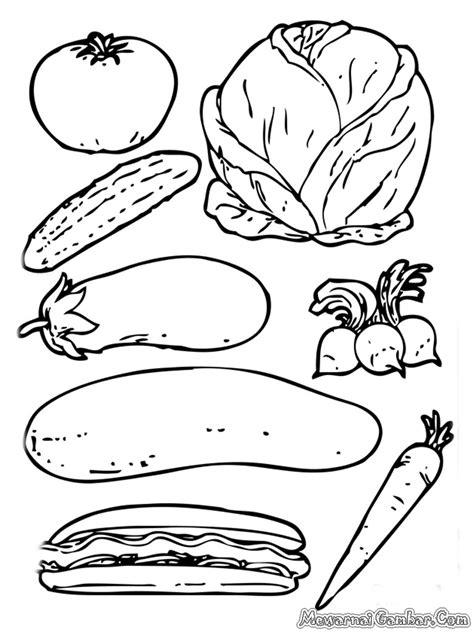 Mewarnai Gambar Sayur Sayuran