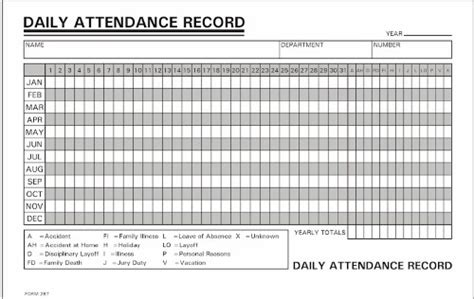 weekly work report template 1 000 daily attendance record annual 800 858 7462