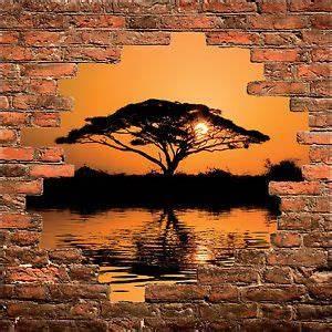 Trompe L Oeil Mur : sticker mural trompe l 39 oeil mur de pierre d co arbre savane r f 870 projets essayer pinterest ~ Dode.kayakingforconservation.com Idées de Décoration