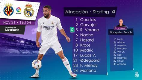Villarreal menahan Real Madrid pada pertandingan tersebut