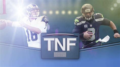 rams  seahawks thursday night football promo youtube