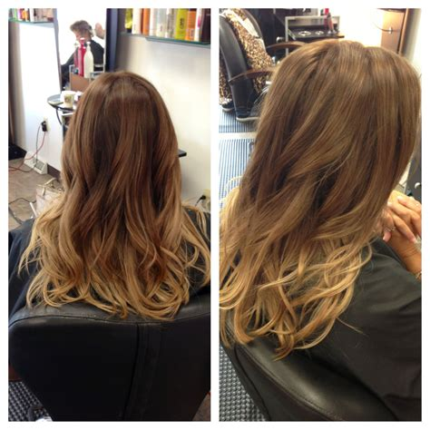 a natural looking medium ombré created with lanza hair