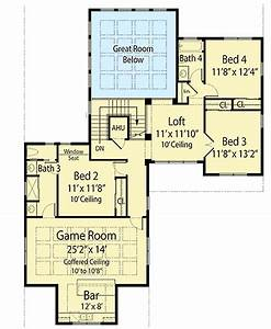 Energy Efficient House Plan With Upstairs Game Room