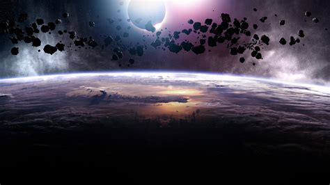 hd wallpaper planet atmosphere asteroid
