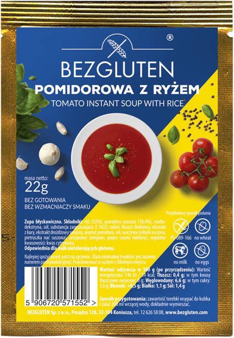 Bezglutēna tomātu zupiņa ar rīsiem (1 porcija), 22 g ...