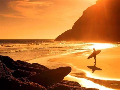 Sunset Surf Backgrounds Desktop Wallpaper  High Quality