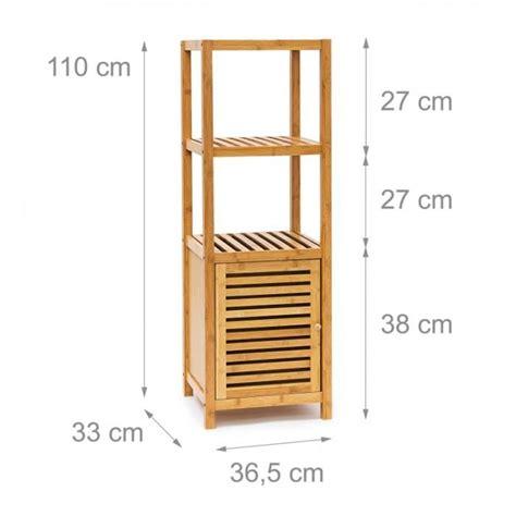 meuble de cuisine pour salle de bain étagère pour salle de bain cuisine armoire bambou 4 étages plateaux meuble rangement serviette
