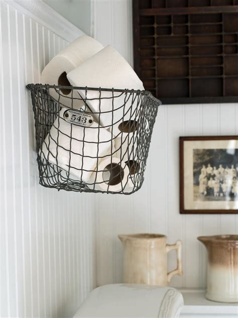 Easily Boost Bathroom Storage With Wallmounted Baskets Hgtv