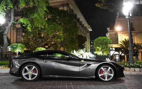 First of all this fantastic phone wallpaper can be used for iphone 11 pro, iphone x and 8. Side view of a black Ferrari F12 Berlinetta wallpaper ...