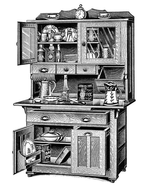 vintage cabinets for kitchen cabinets free vintage clip design shop 6783