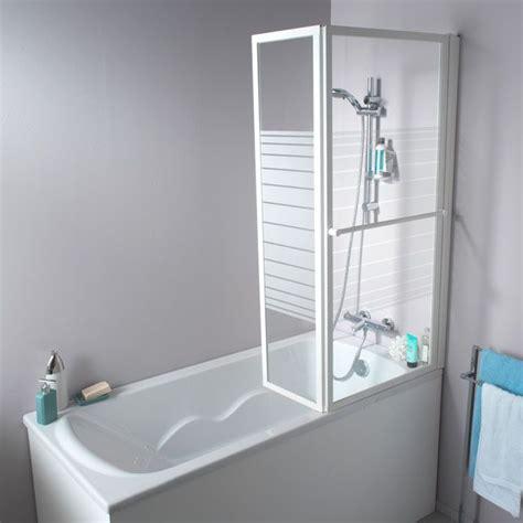 pare baignoire relevable 2 volets elfe ecume castorama salle de bain ikea