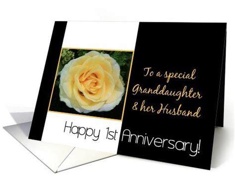 st wedding anniversary card  granddaughter  husband